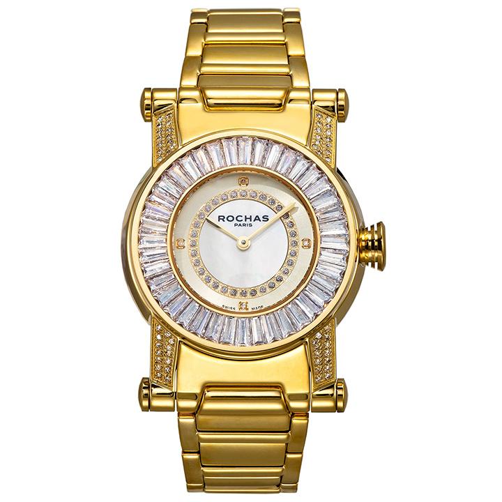 世界的に有名なフランスのラグジュアリーファッションブランド ROCHAS(ロシャス)のジュエリーウォッチ RJ32 ホワイト/ゴールド ダイヤモンド レディース腕時計 メンズ腕時計 スイスメイド