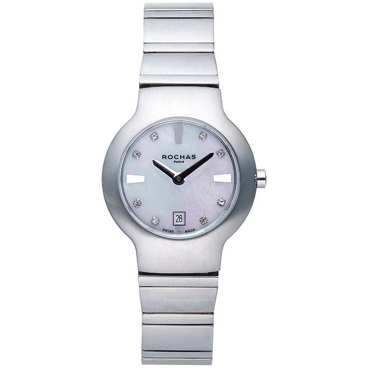 香水が世界的に有名なフランスのファッションブランド ROCHAS(ロシャス)のレディース腕時計 RJ34 ブラック/シルバー 白蝶貝 SSブレスレット ブレスウォッチ フレグランス ラグジュアリー