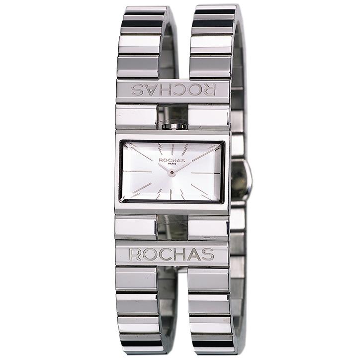 香水が世界的に有名なフランスのファッションブランド ROCHAS(ロシャス)のレディース腕時計 RJ43 シルバー/シルバー SSブレスレット バングルウォッチ ブレスウォッチ スイス製