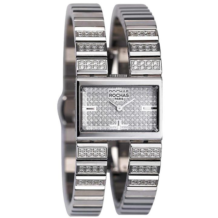 香水が世界的に有名なフランスのファッションブランド ROCHAS(ロシャス)のレディース腕時計 RJ45 シルバー/シルバー SSブレスレット バングルウォッチ ブレスウォッチ ラグジュアリー スイス製