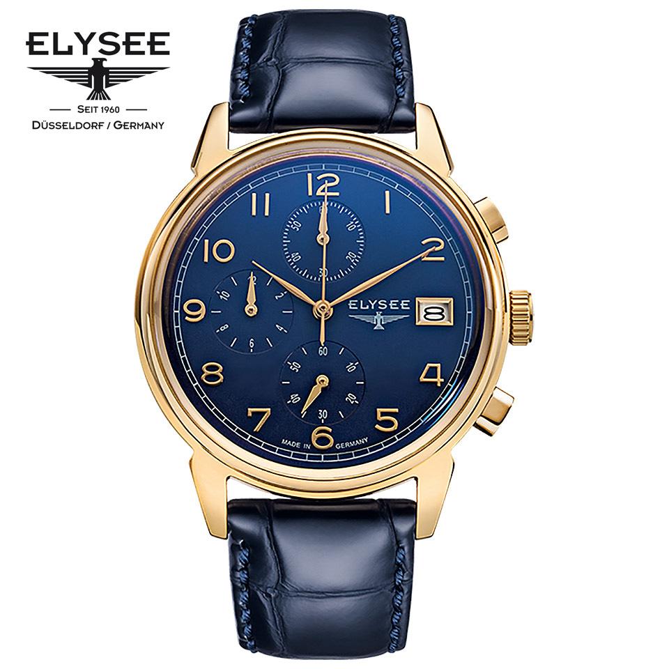 ELYSEE(エリーゼ) ドイツ時計 VINTAGE CHRONO 80552 ブルー/ゴールド/ネイビー クロノグラフ 1930年代 ビンテージ クラシック メンズ腕時計 ドイツ製 青金モデル