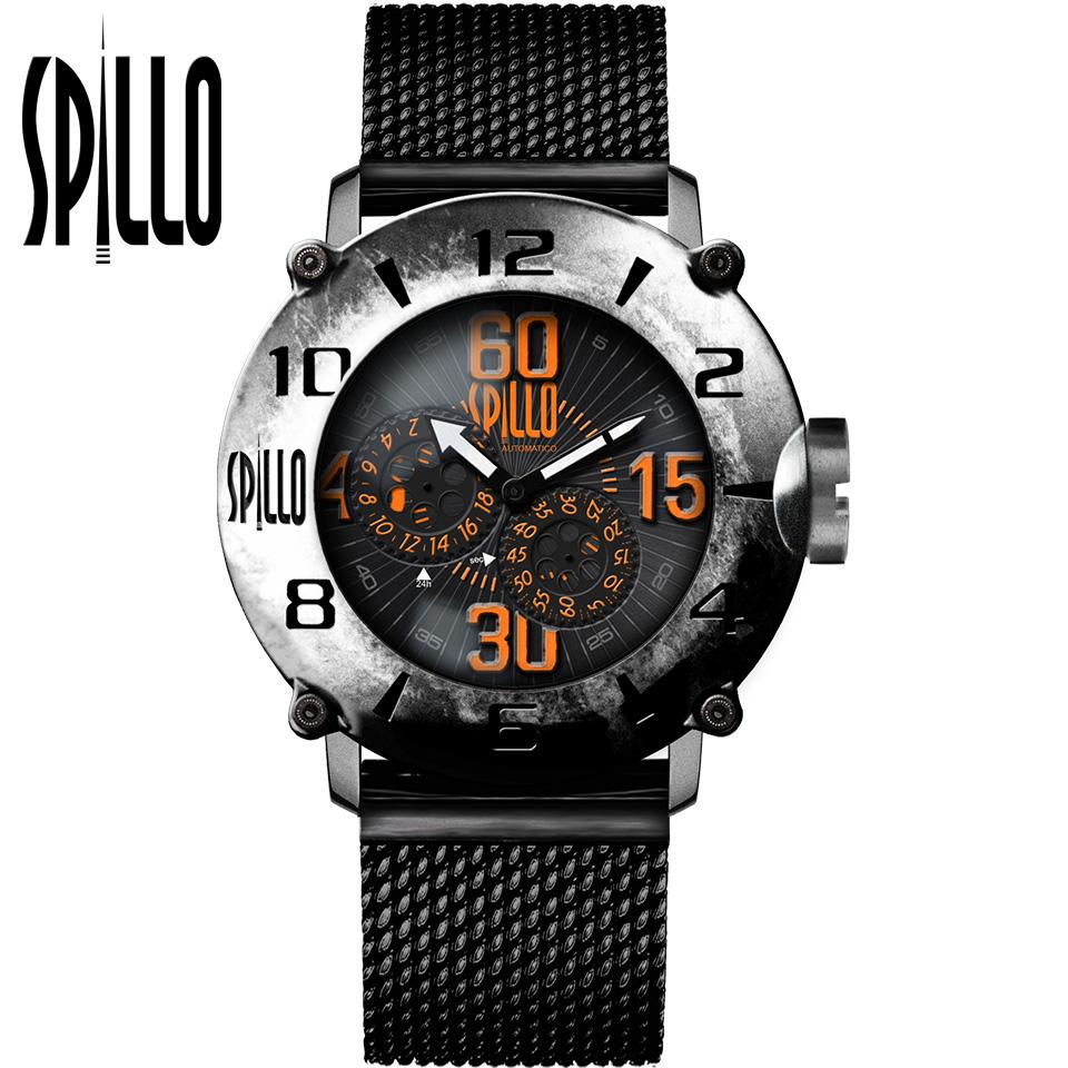 SPILLO(スピーロ)OUTLAW OL1000V6S-MK スティール オレンジインデックス 自動巻き イタリア時計