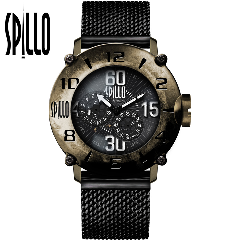 SPILLO(スピーロ)OUTLAW OL917KB-MK ブロンズ ホワイトインデックス 自動巻き イタリア時計