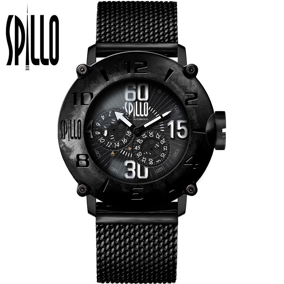 SPILLO(スピーロ)OUTLAW OL917KK-MK ブラック ホワイトインデックス 自動巻き イタリア時計
