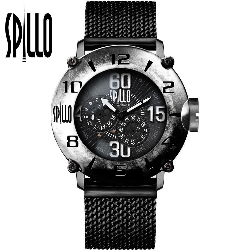 SPILLO(スピーロ)OUTLAW OL917KS-MK スティール ホワイトインデックス 自動巻き イタリア時計