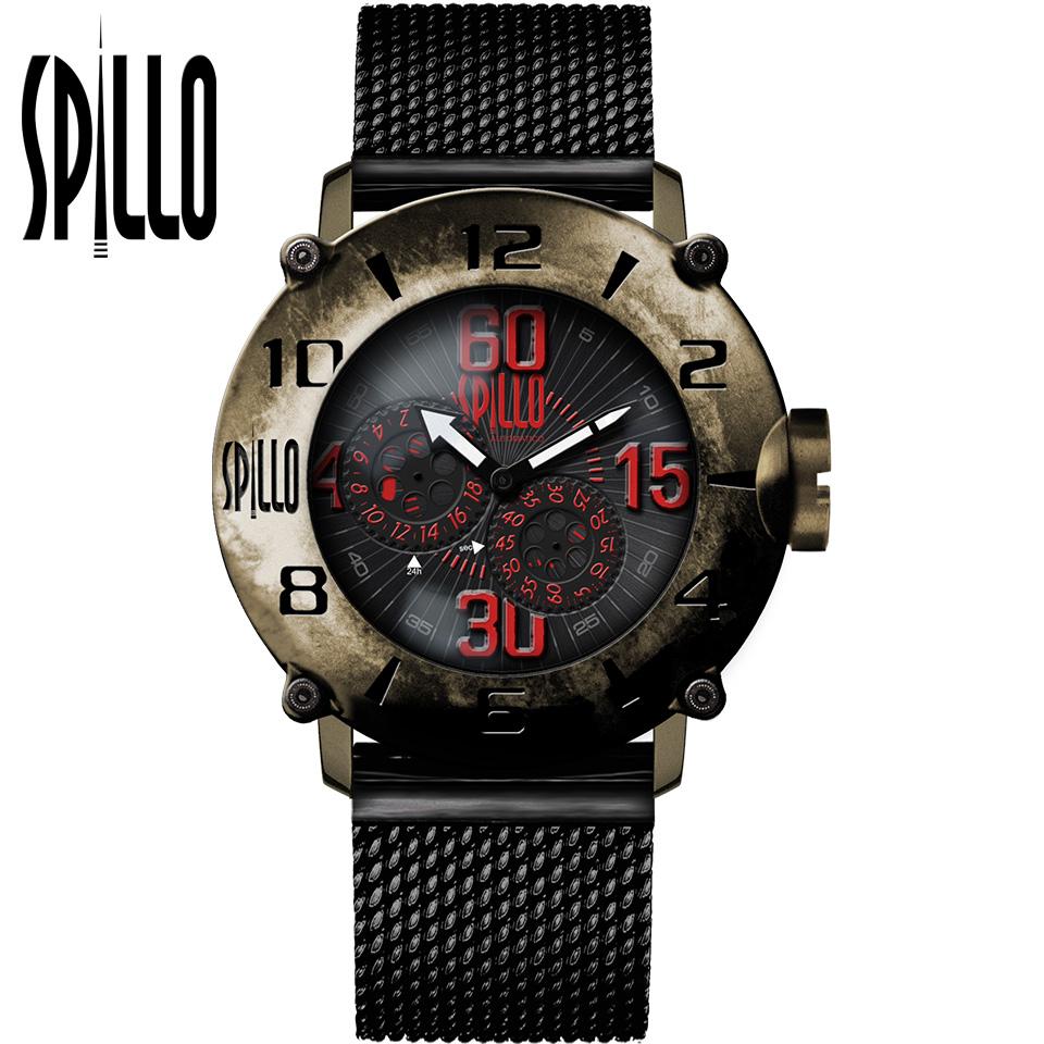 SPILLO(スピーロ)OUTLAW OLP4B-MK ブロンズ レッドインデックス 自動巻き イタリア時計