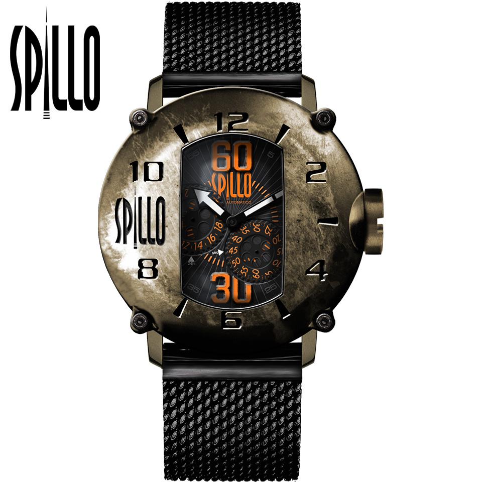 SPILLO(スピーロ)SPEED DEMON SD1000V6B-MK ブロンズ オレンジインデックス イタリア メンズ機械式腕時計