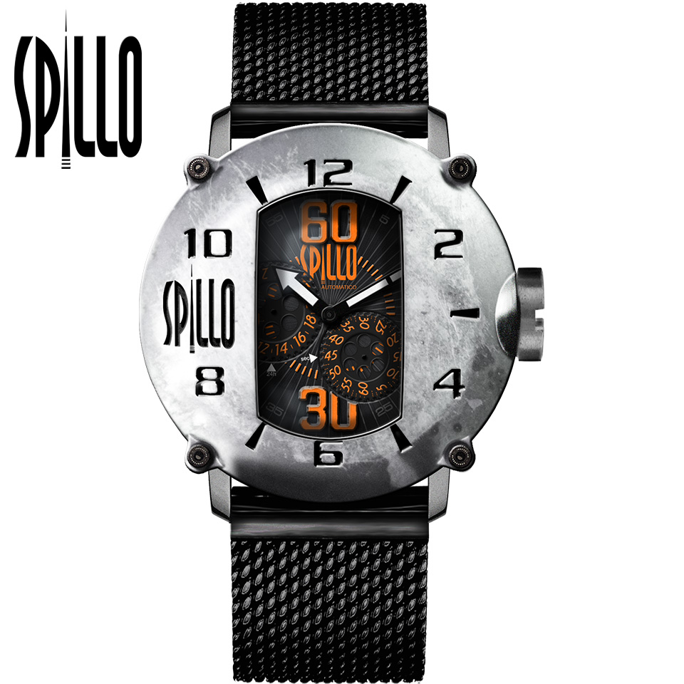 SPILLO(スピーロ)SPEED DEMON SD1000V6S-MK スティール オレンジインデックス イタリア メンズ機械式腕時計