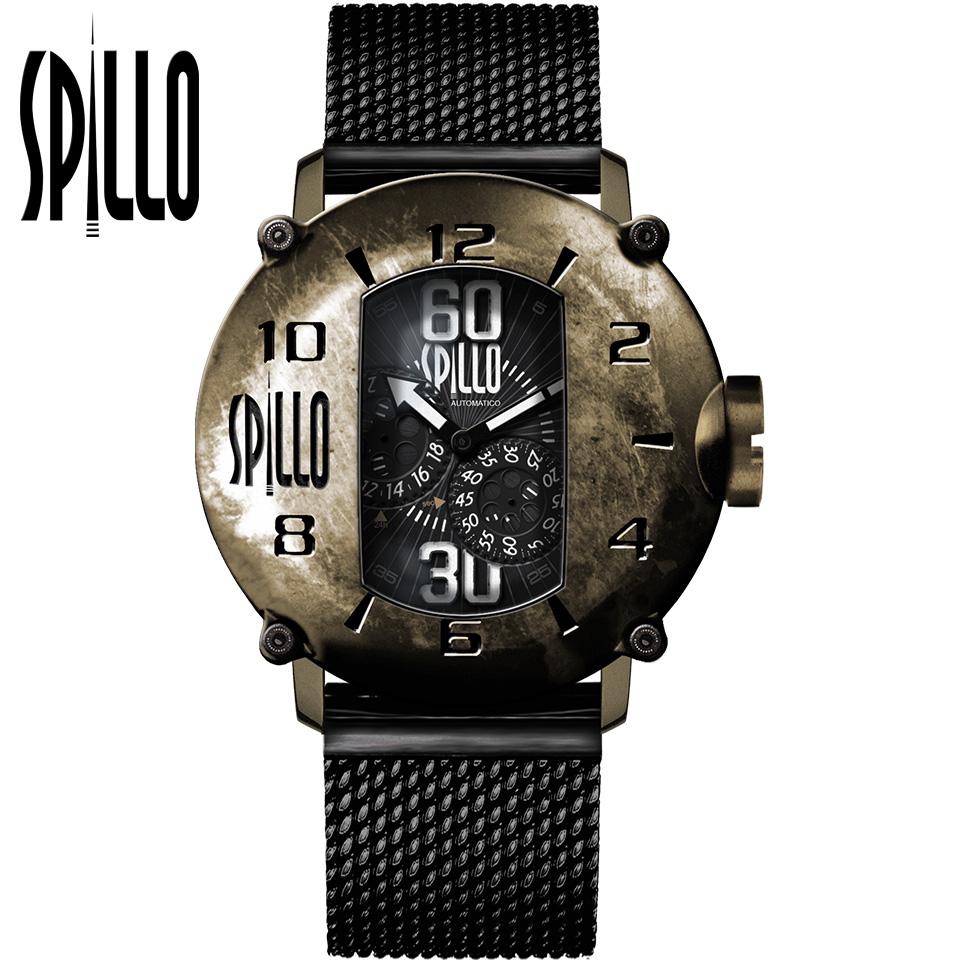 SPILLO(スピーロ)SPEED DEMON SD917KB-MK ブロンズ ホワイトインデックス イタリア メンズ機械式腕時計