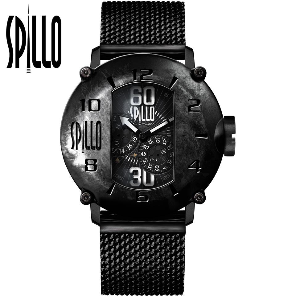 SPILLO(スピーロ)SPEED DEMON SD917KK-MK ブラック ホワイトインデックス イタリア メンズ機械式腕時計