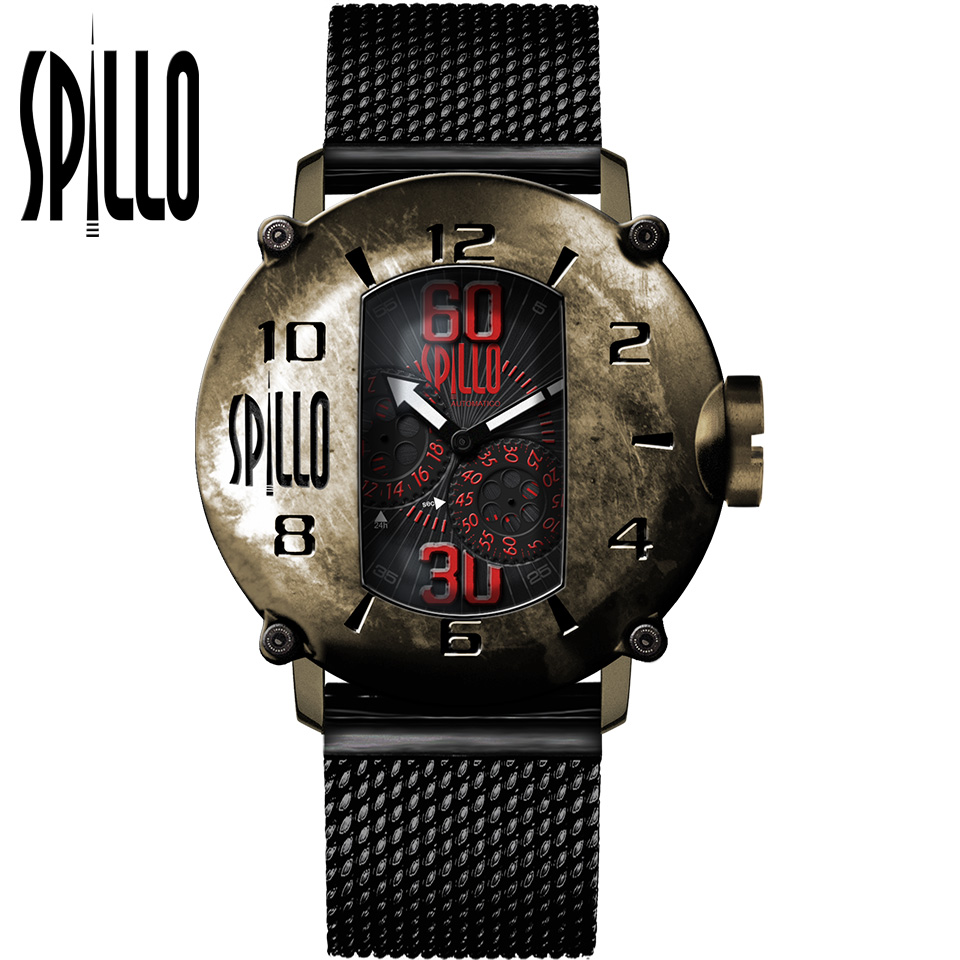SPILLO(スピーロ)SPEED DEMON SDP4B-MK ブロンズ レッドインデックス イタリア メンズ機械式腕時計
