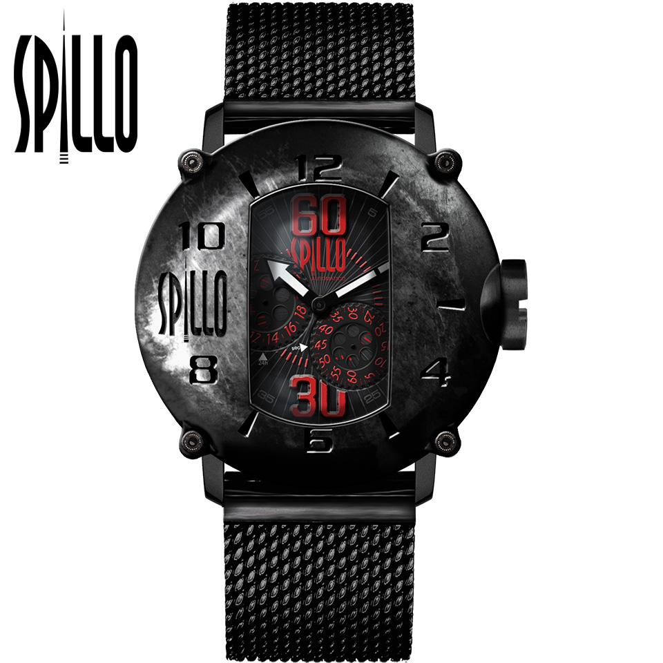 SPILLO(スピーロ)SPEED DEMON SDP4K-MK ブラック レッドインデックス イタリア メンズ機械式腕時計