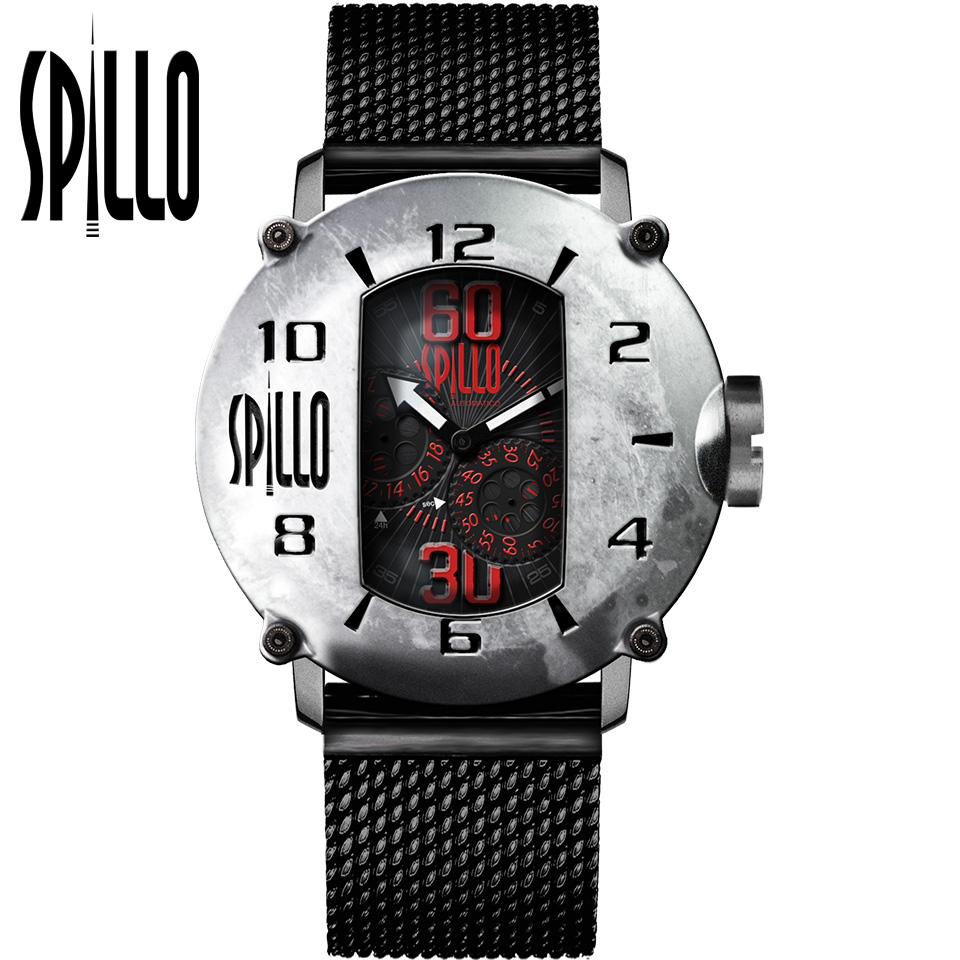 SPILLO(スピーロ)SPEED DEMON SDP4S-MK スティール レッドインデックス イタリア メンズ機械式腕時計