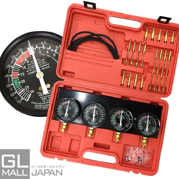 4連バキュームゲージセット レギュレーター&ケース付 / メーター 負圧測定 キャブレター調整