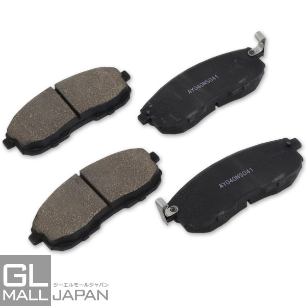 NEW 高い制動力で耐熱性 耐久性も抜群 ブレーキパッド 左右4枚1セット ブレーキ鳴き止めグリス付 オーガニック素材 STBP-045 新作送料無料 NAO材使用