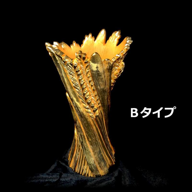 送料無料(離島別途)幸運を呼ぶ開運の金色の壺 Bタイプ★インテリア・家具・花瓶・オブジェ・置物 つぼ ゴールド【あす楽】