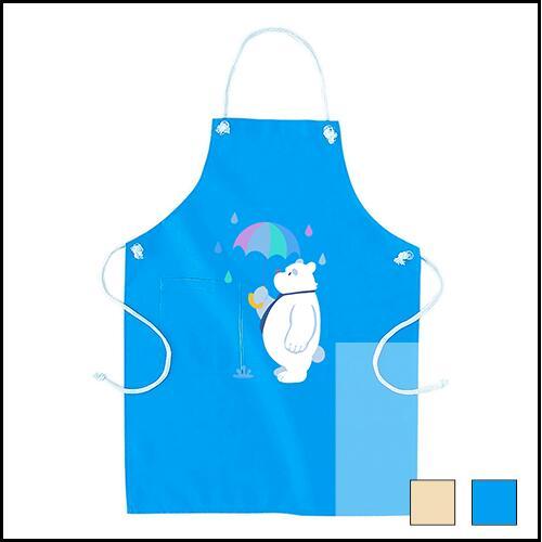 大きいサイズのメンズ服グラマラスストア エプロン 雨の日の白クマ ブルー 安売り 期間限定お試し価格 ナチュラル