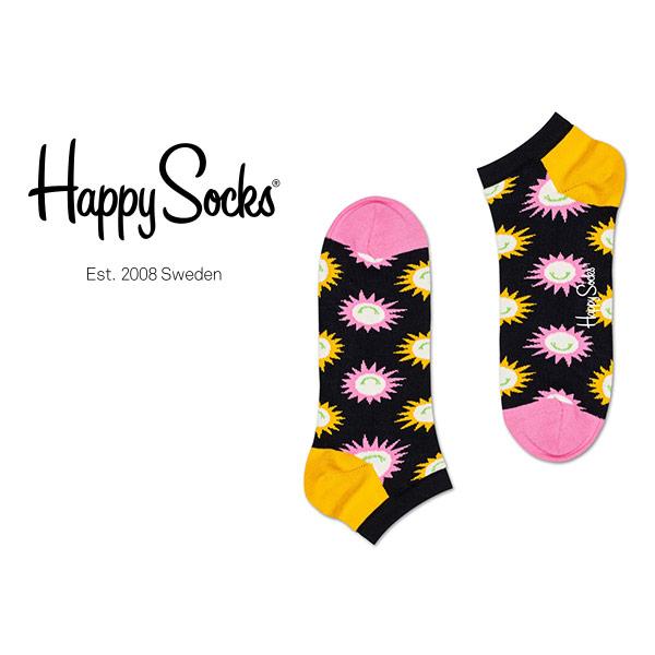 【ゆうパケット220円・6点まで】Happy Socks ハッピーソックスメンズ レディース ソックス 靴下 セール!41%OFFHappy Socks ハッピーソックスSUNNY SMILE ( サニー スマイル )スニーカー丈 綿混 ソックス 靴下ユニセックス メンズ プレゼント 贈答 ギフト10123017