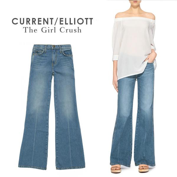 カレントエリオット current/elliott レディース デニム カレントエリオット Current Elliott 柔らか ウォッシュ ダメージ フレア インディゴ