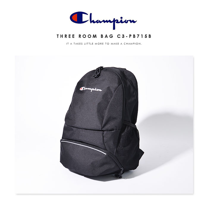 Champion Mens Top Load Backpack Dark Grey OS CH1027-020