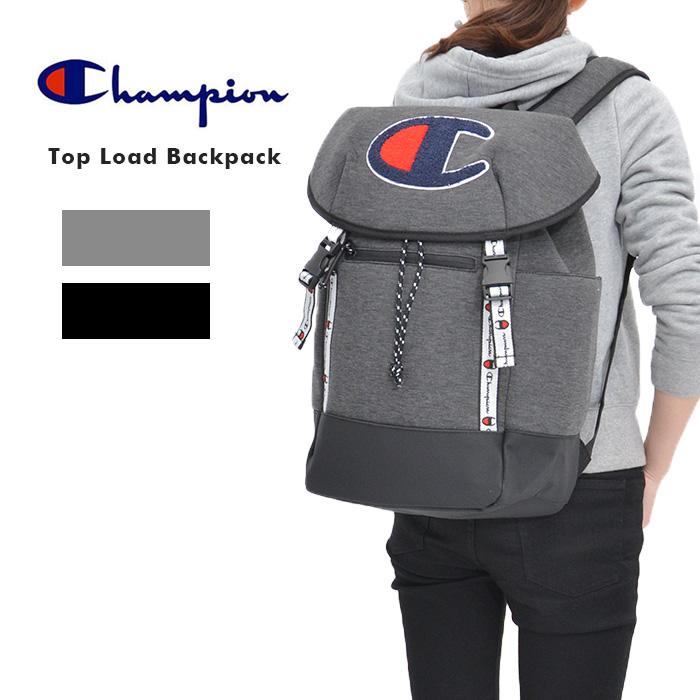Champion チャンピオン チャンピョン Top Load Backpack バッグ バックパック リュック デイパック CH1027-020 チャコール グレー ブラック 黒 ユニセックス レディース カジュアル スポーティ ブランド 大人 可愛い おしゃれ トレンド アウトドア レジャー 大容量
