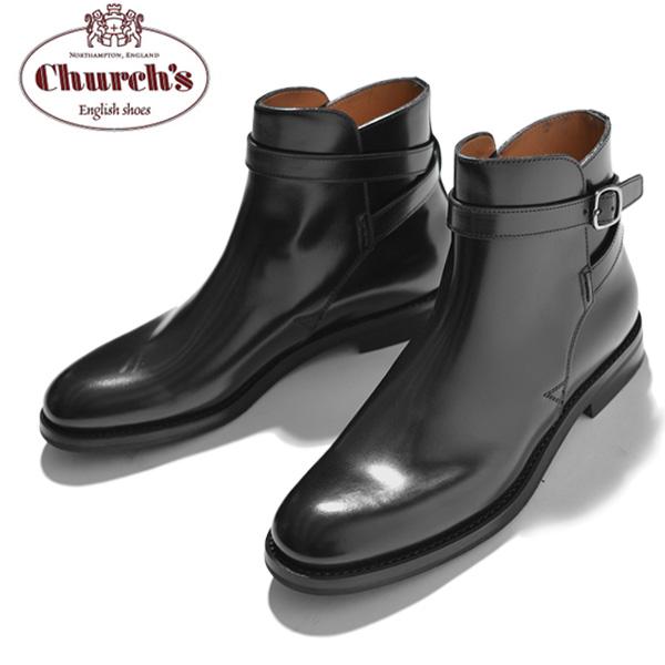 チャーチ Church's レディース ショートブーツ ベルト Merthyr Black Polished Binder カーフレザー ブラック サイズ36/36.5/37/37.5/38/38.5 モードなデザイン 上質レザー使用 革靴