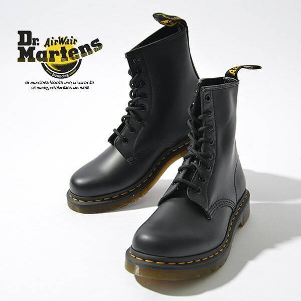 Dr.Martens ドクターマーチン 8ホール レディース 1460W 8EYE BOOTS 11821006 スムースレザー ブラック 黒 レースアップ ブーツ レースアップブーツ ショートブーツ ワークブーツ 定番 8 eye boots