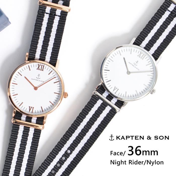 キャプテン&サン 時計 KAPTEN&SON 腕時計 ウォッチ 36mm Night Rider ナイトライダー レディース/メンズ/ユニセックス送料無料