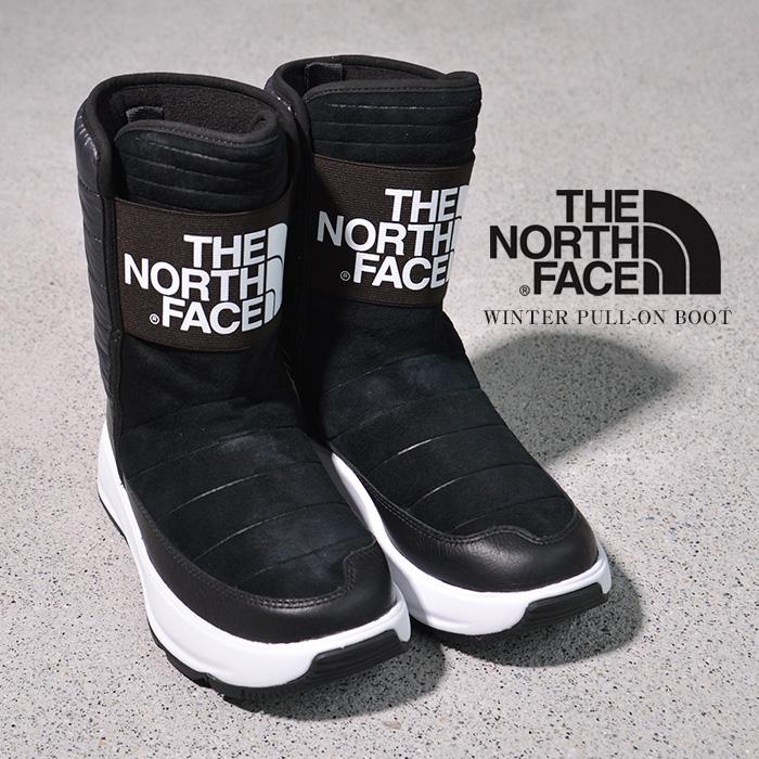 ノースフェイス ブーツ レディース THE NORTH FACE WOMEN'S OZONE PARK WINTER PULL-ON BOOT NF0A3K39 ショートブーツ スノーブーツ レインブーツ 軽量 防水 スエード ブラック 黒 冬 カジュアル 大人