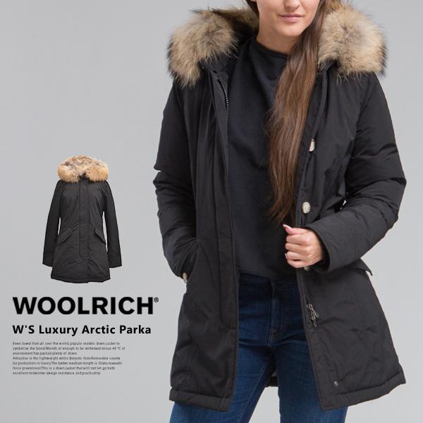 【送料無料】WOOLRICH ウールリッチ レディース ダウンジャケット パーカ アークティックパーカ W'S Luxury Arctic Parka アウター ダウン ラクーンファー 防寒 ブラック 黒 ジャケット ブランド 海外