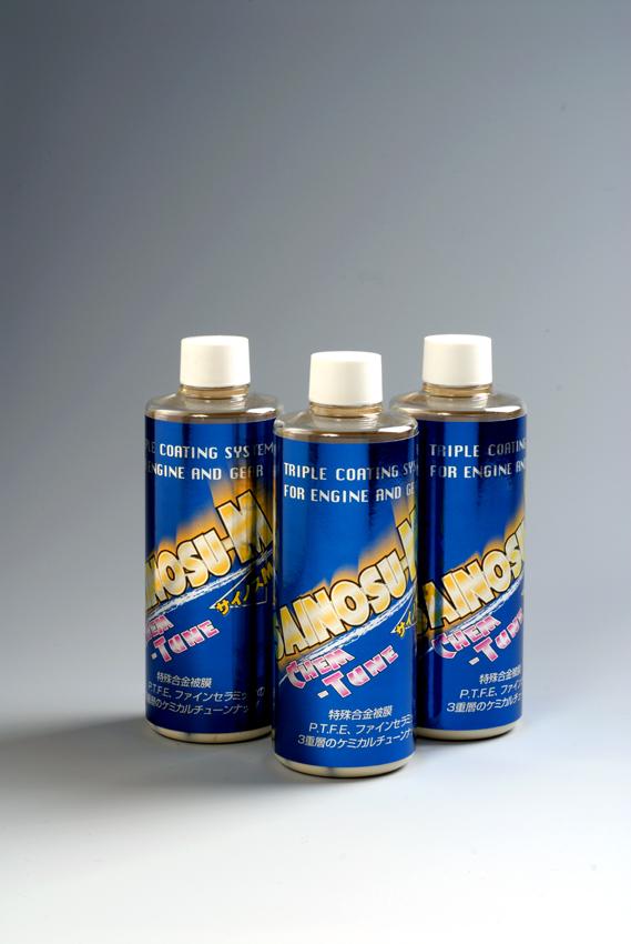 金属摺動面に合金被膜・固体潤滑の三重層複合被膜を施し金属摩耗をより限りなくゼロにしオイル温度の上昇を抑制する添加剤。不慮のトラブルを防ぐ ケミチューン サイノス-M 280ml 三重積層被膜剤入り、高性能ケミチューン 固体潤滑剤配合 カーコーティング