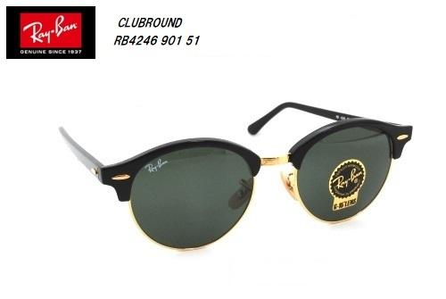 ★RayBan(レイバン) サングラス CLUBROUND(クラブラウンド) RB4246 901 51サイズ