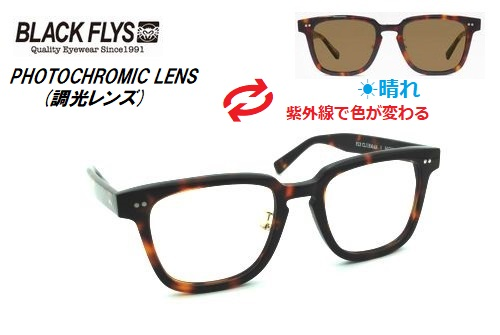 ブラックフライ(BLACKFLYS)サングラス【FLY CLUBMAN PHOTOCHROMIC】調光レンズ BF-1316-02 レイトモデル
