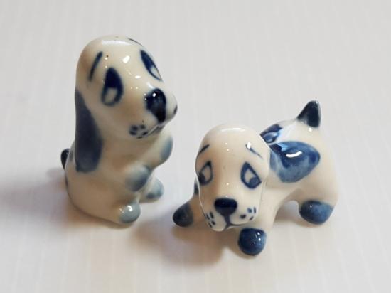 ロイヤルコペンハーゲン フィギュリン■犬 イヌ 置物 インテリア オブジェ 2点セット ミニチュア 2