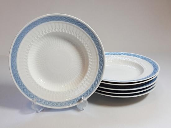 ロイヤルコペンハーゲン プレート■ブルーファン スーププレート 6枚セット 皿 レア 小 Blue Fan