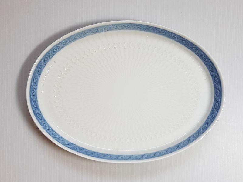 ロイヤルコペンハーゲン トレイ■ブルーファン オーバルトレイ 1枚 皿 楕円 レア Blue Fan 1級品 1