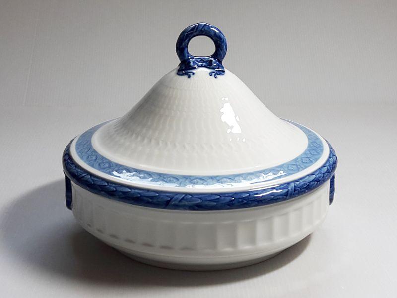ロイヤルコペンハーゲン ボウル■ブルーファン 蓋つきベジタブルボウル 1個 レア Blue Fan 1級品 2