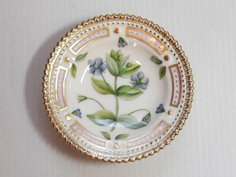 ロイヤルコペンハーゲン プレート■フローラダニカ バタープレート 小皿 1枚 植物図鑑 1級品 美品 5