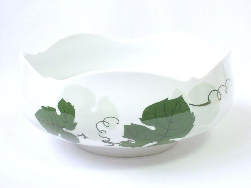 マイセン ボウル■ヴァインリーフ ワインリーフ 葡萄の葉 ベジタブルボウル 葉 グリーン 深皿 1個 Meissen