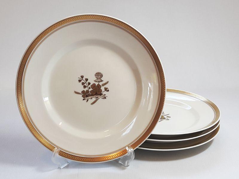 ロイヤルコペンハーゲン プレート■ゴールデンクローバー ディナープレート 大皿 4枚セット 1級品