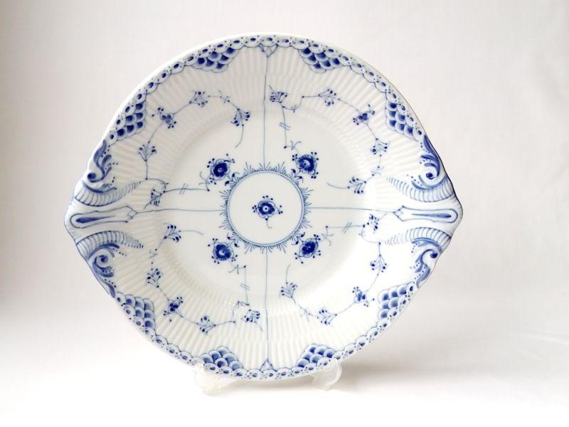 ロイヤルコペンハーゲン プレート■ブルーフルーテッド ハーフレース オーバルプレート 大皿 1級品 美品