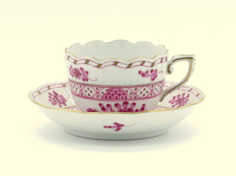 ヘレンド カップ&ソーサー■森の宝物 ピンク デミタス C&S HEREND 1級品 2