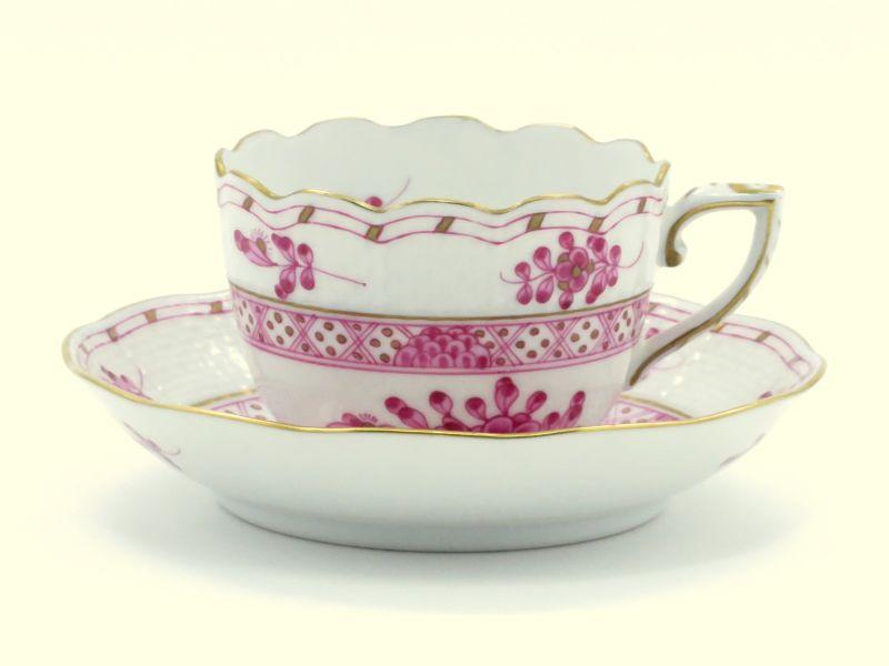 ヘレンド カップ&ソーサー■森の宝物 ピンク デミタス CS HEREND 1級品 3