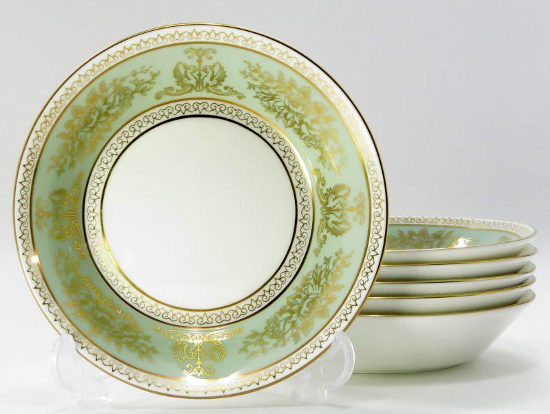 ウェッジウッド プレート■コロンビア セージグリーン ミニプレート 6枚セット 小皿 WEDGWOOD 1級品
