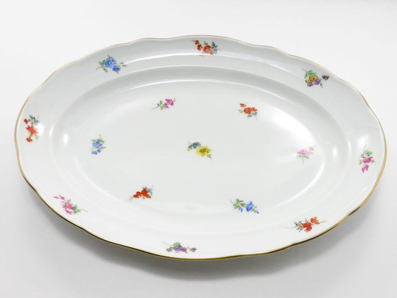マイセン プレート■散らし小花 スキャタードフラワー オーバルプレート 大 大皿 楕円 1枚 Meissen