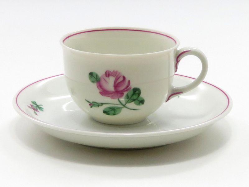 アウガルテン カップ&ソーサー■オールドウィンナーローズ ピンク デミタスC&S 1客 薔薇 バラ 花 3