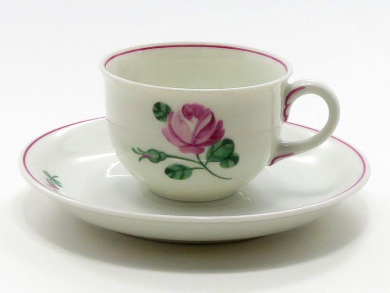 アウガルテン カップ&ソーサー■オールドウィンナーローズ ピンク デミタスC&S 1客 薔薇 バラ 花 4