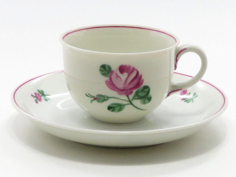 アウガルテン カップ&ソーサー■オールドウィンナーローズ ピンク デミタスC&S 1客 薔薇 バラ 花 5