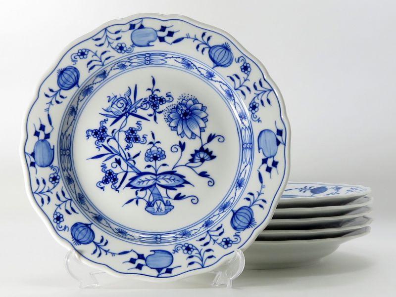 マイセン プレート■ブルーオニオン ランチプレート 皿 6枚セット Meissen 1級品