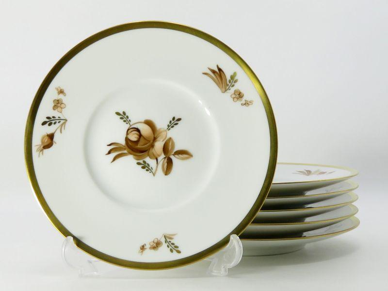 ロイヤルコペンハーゲン プレート■ブラウンローズ バラ デザートプレート 皿 6枚セット 1級品 2